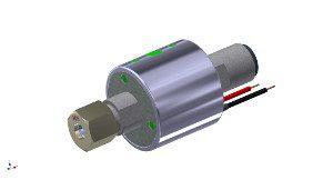 Getränkeventil mit runder Hochleistungsspule für den Einbau und eine schlanke Zapfsäule
