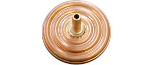 Dämpfungsdose - Druckdämpfer - Vibrationsdämpfer in Messing