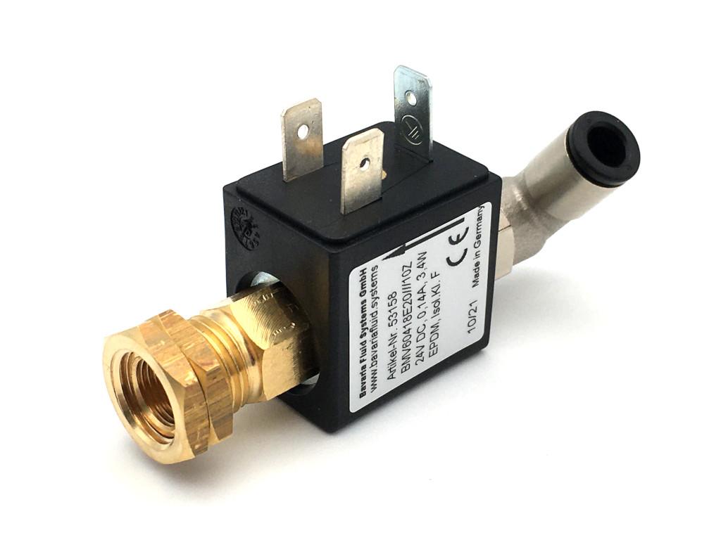 2/2-Wege-Coaxial-Gas-Magnetventil BMV60418 in Messing für Laser- und Lichtbogen-Schweißgeräte mit Schutzgas - MAG, MIG, WIG und für Brennschneidanlagen