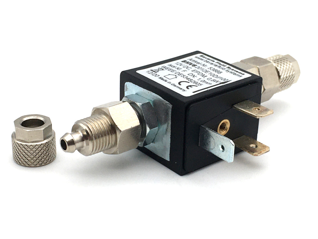 2/2-Wege-Coaxial-Gas-Magnetventil mit Rückschlagventil BMV62012 12V DC für Aquaristik und Aquascaping - CO2-Nachtabschaltung