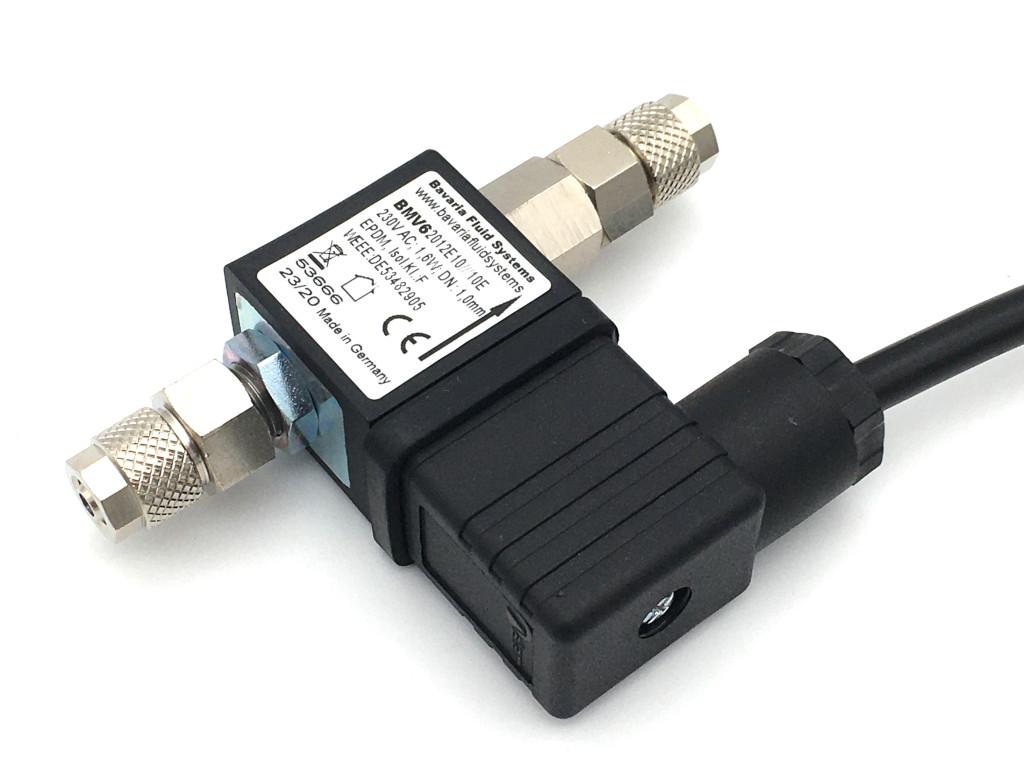2/2-Wege-Coaxial-Gas-Magnetventil mit Rückschlagventil BMV62012 230V AC für Aquaristik und Aquascaping - CO2-Nachtabschaltung
